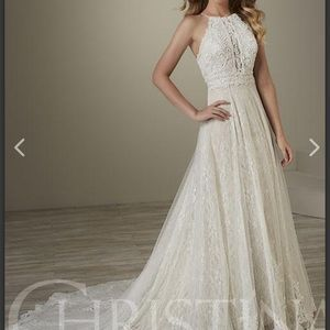 Unaltered wedding dress Champagne / Ivory